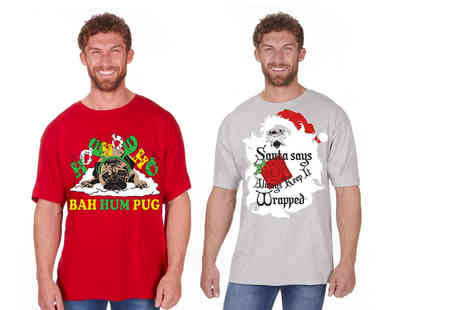 Style It Up - Novelty Christmas Tshirt choose from four designs - Save 50%