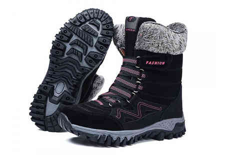 PinkPree - Pair of womens plush velvet snow boots - Save 68%