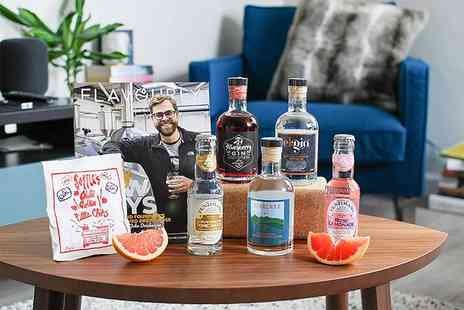 Flavourly - Gin hamper with one 200ml bottle of craft gin, mixers, a snack and a magazine - Save 44%