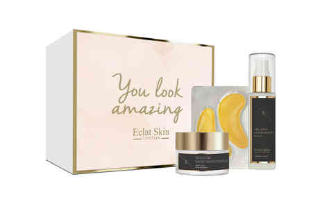 Eclat Skin London - Three piece anti wrinkle retinol 24k gold gift set - Save 82%