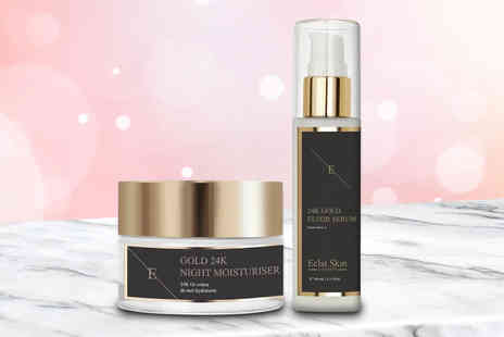 Eclat Skin - Anti wrinkle 24k gold moisturiser and serum gift set - Save 79%