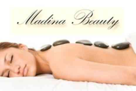Madina Beauty - Massage Such as Hot Stone Plus 30 Minute Dermalogica Facial - Save 55%