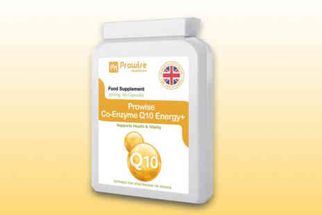 Prowise - Two month supply of co enzyme Q10 energy Plus capsules - Save 53%