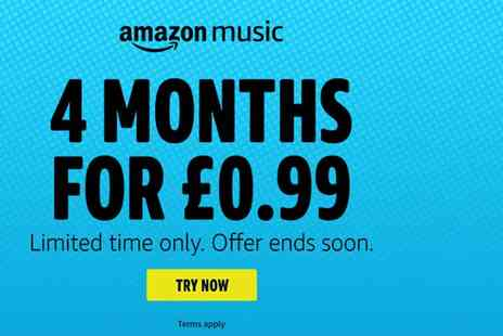 Submission Technology - Four months of unlimited Amazon Music - Save 98%