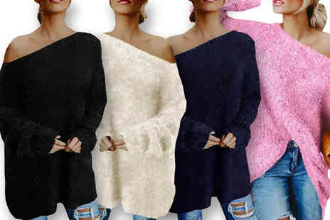 Boni Caro - Fluffy knitted oversized jumper - Save 67%