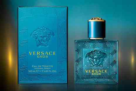 Prestigious Gifts - 50ml bottle of Versace Eros eau de toilette for him - Save 23%