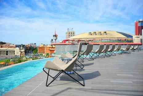 B Hotel Barcelona - Three Star Modern Rooftop Relaxation Overlooking Plaza Espana for two - Save 80%