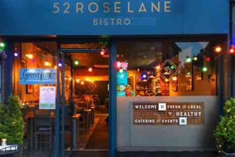 52 Rose Lane Bistro - £12 or £24 Toward Food or Drinks for Two or Four - Save 33%