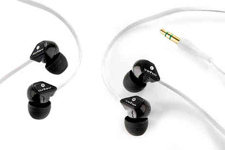 Wowcher Direct - Pair of Veho Z1 noise isolating earphones - Save 0%