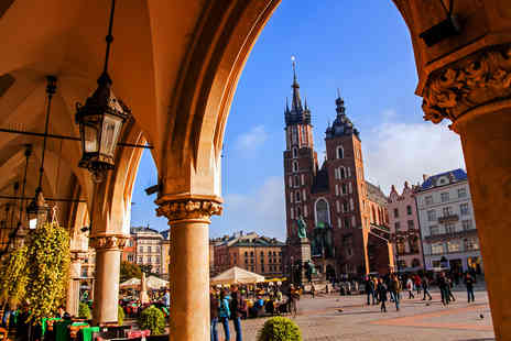 Bargain Late Holidays - Escape with a two, three or four nights getaway to Krakow Now with the ability to choose your flight - Save 47%