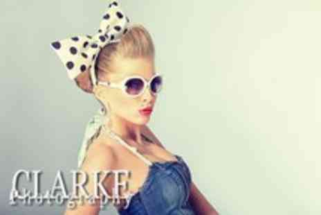 Clarke Photography - Vintage photoshoot including makeover, hair styling & 10x8 print to take home - Save 87%