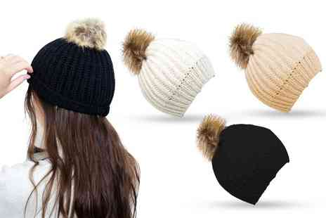 Avant Garde - Ladies knitted beanie hat pack of three - Save 0%