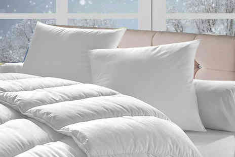 Direct Warehouse - 15 Tog Winter Duvet and Four Pillows - Save 75%