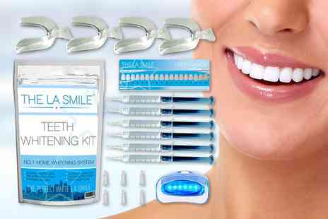 The LA Smile - Platinum teeth whitening kit - Save 78%