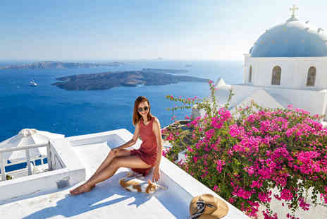 Bargain Late Holidays - Four Star Escape with a three, four, five or seven nights getaway to Santorini Now with the ability to choose your flight - Save 0%