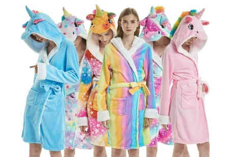 Blu Fish - Unicorn dressing gown Choose from six designs - Save 76%