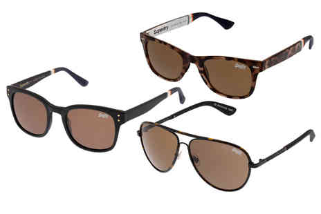 Brand Arena - Pair of Superdry sunglasses Choose from 16 designs - Save 63%