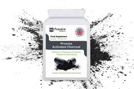 Prowise - One month supply of activated charcoal capsules - Save 73%