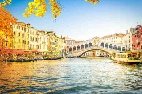 Weekender Breaks - Two nights Venice holiday with a gondola ride and return flights - Save 34%