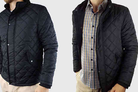 Blu Apparel - Mens Quilted Jacket Choose from 3 Colours and 5 Sizes - Save 50%