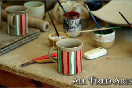 All Fired Arts - £5 for a two-hour pottery painting experience - Save 62%