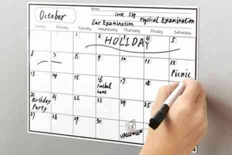 Groupon Goods Global GmbH - One, Two or Four Fridge Magnet Monthly Calendar Planners with Marker Pens - Save 56%