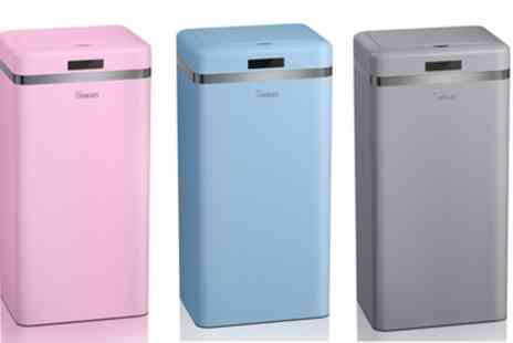 Groupon Goods Global GmbH - Swan 45L Retro Style Sensor Bin in Choice of Colour - Save 33%
