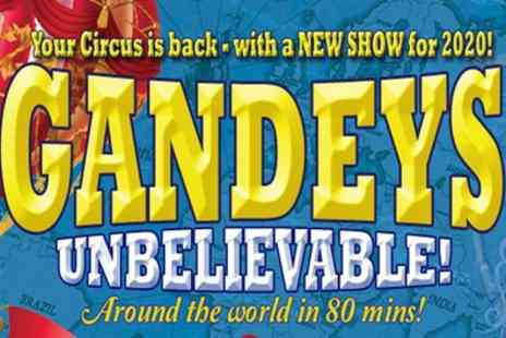 Exchange Events - One side circle ticket to Gandeys Circus from 15th To 2nd February - Save 58%