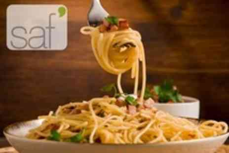 Saf Restaurant - Two Course Vegan Meal With Glass of Vintage Wine For Two - Save 52%