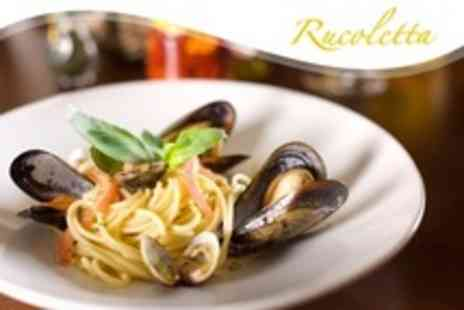 Rucoletta Restaurant - Three Courses of Italian Fare For Two - Save 62%