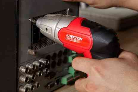 Groupon Goods Global GmbH - One or Two Sets of Dekton Cordless Screwdrivers - Save 21%