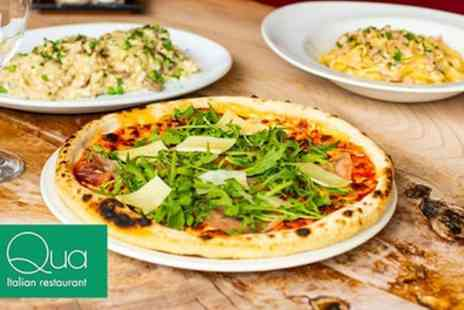 Qua Italian - Choice of One Pasta, Pizza, Salad or Risotto Dish for Two or Four - Save 54%
