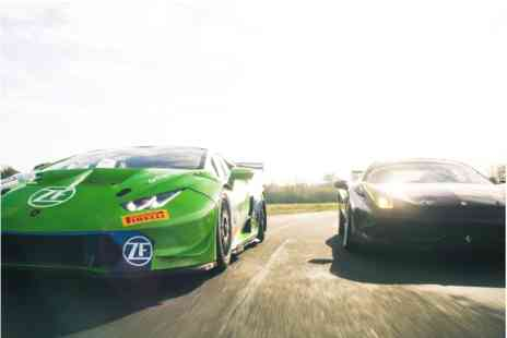 Virgin Experience Days - Lamborghini Huracan Super Trofeo vs Ferrari 458 Challenge Race Car Experience - Save 0%