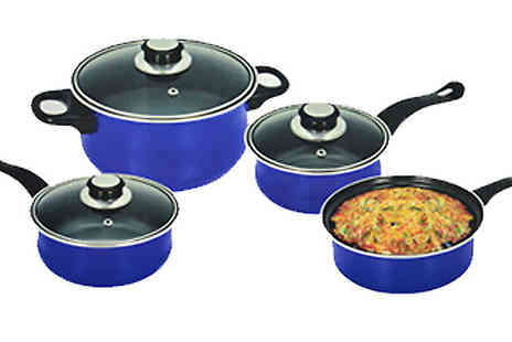 Direct 2 public - 7 Piece Non Stick Cookware Set Choose from 3 Colours - Save 70%
