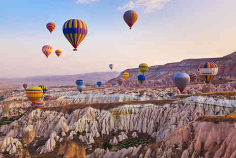 Travel Center - Three nights Cappadocia break with return flights and a Champagne breakfast balloon tour - Save 25%