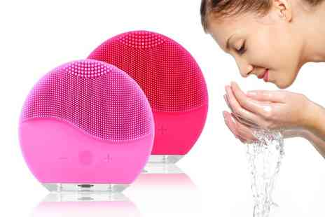 WhoGotThePlan - Electric waterproof silicone sonic facial massage cleanser cleanse your pores - Save 0%