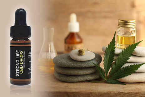 The British CBD Company - 10ml bottle of Strong Life CBD oil Choose from seven strengths - Save 0%