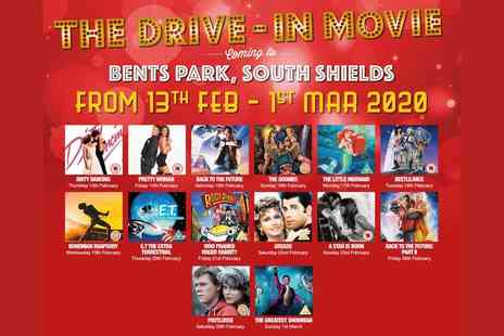 The Drive In Movie - Drive in cinema ticket for one car with up to seven passengers pick from 13th February to 1st March 2020 including half term dates - Save 49%