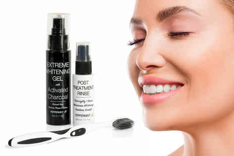 Cougar Beauty - Ultimate teeth whitening activated charcoal set - Save 83%