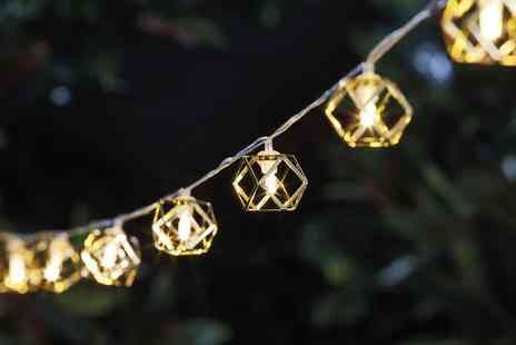 Esher Mail Order - Set of gold cage solar string lights - Save 65%