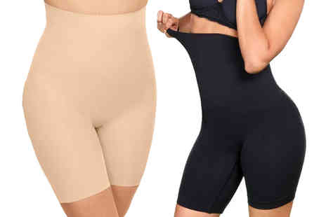 Bonicaro - Pair of high waisted anti chafing shorts Choose your size and colour - Save 73%
