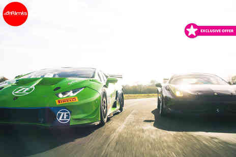 Drift Limits - 8 lap driving experience in one supercar or 16 laps in three supercars - Save 51%