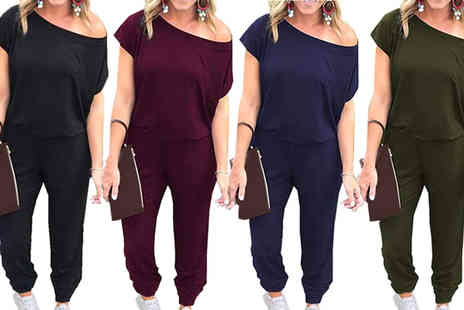Bonicaro - Off shoulder jumpsuit Choose your colour and size - Save 70%