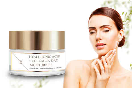 Eclat Skin - 50ml hyaluronic acid and collagen day moisturiser - Save 79%