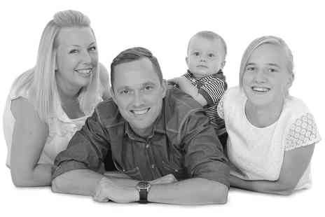 Chris Mullane Photography - One hour family photoshoot for up to seven people and two 12 Inch x 8 Inch prints  - Save 89%