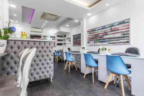 Sunny Nailspa - Gel File and Polish on Fingers, Toes or Both - Save 40%