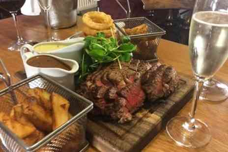 The Olive Branch Restaurant & Rooms - Cote De Boeuf Sharing Steak Meal with Side, Sauce and Prosecco for Two or Four - Save 51%