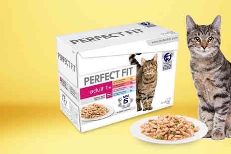Trojan - 96 pouches of Perfect Fit Adult 1 Plus cat food - Save 0%