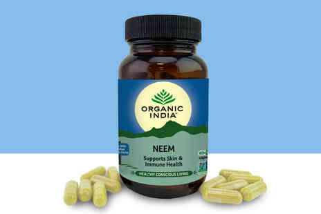 Organic India - 22 day supply of neem blood purifier supplements - Save 57%