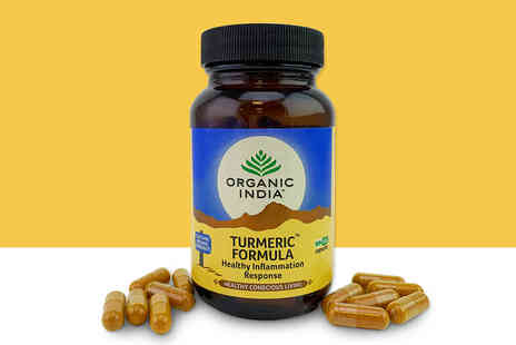 Organic India - 45 day supply of turmeric and black pepper supplements - Save 44%